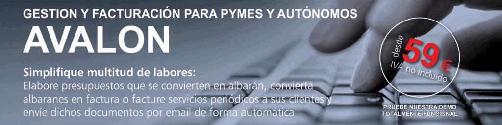 Gestion y Facturacion para PYMEs y Autonomos Avalon