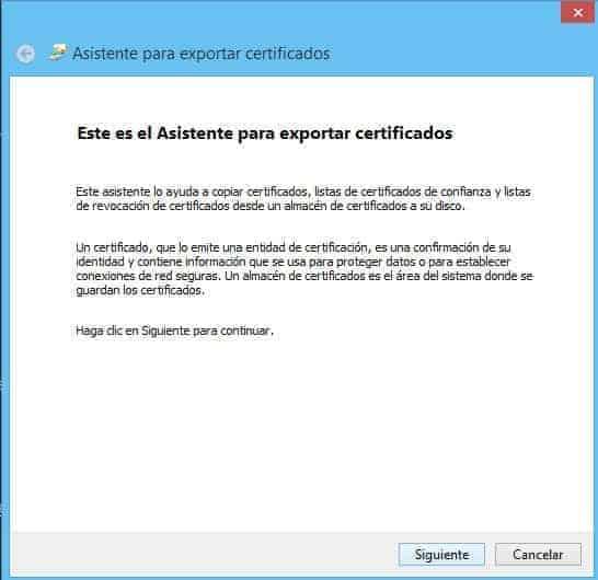 Exportar Certificado Digital con Clave Privada 2