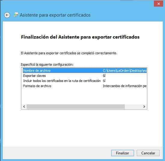 Exportar Certificado Digital con Clave Privada 7