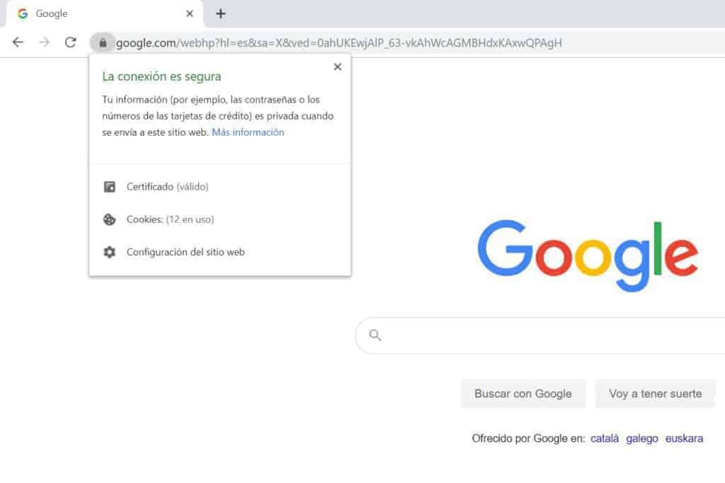 ejemplo de web segura