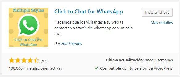 añadir un plugin de whastapp en nuestra web
